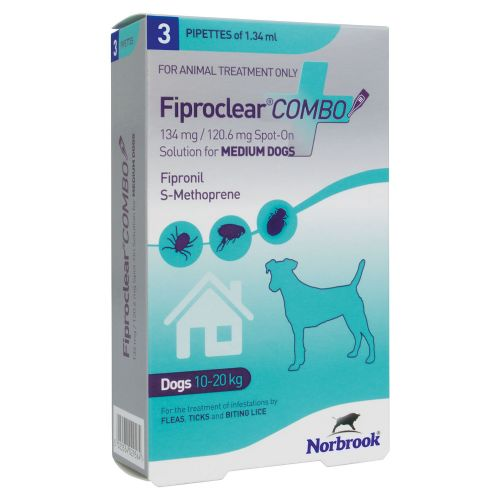 Fiproclear   Combo - For Medium Dogs  10-20kg  - 3 pack